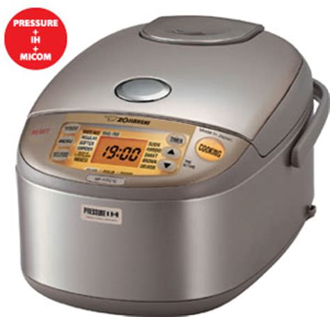 induction heater cooking zojirushi np htc10 induction heating 5 1 2 cup uncooked pressure rice cooker and cookware 2012
