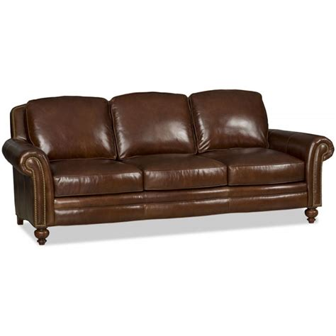 bradington leather sofa bradington everett leather stationary sofa 676 95
