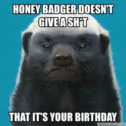 Honey Badger Meme Generator - honey badger birthday