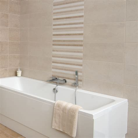 Small Bathroom Tile Floor Ideas by Brewton Beige Wall Tile