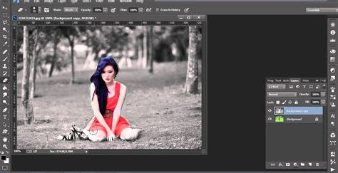 cara edit foto resmi di photoshop cara mengedit foto di photoshop efek selective color youtube