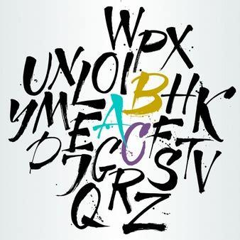 cursive letters font graffiti vectors photos and psd files free 1175