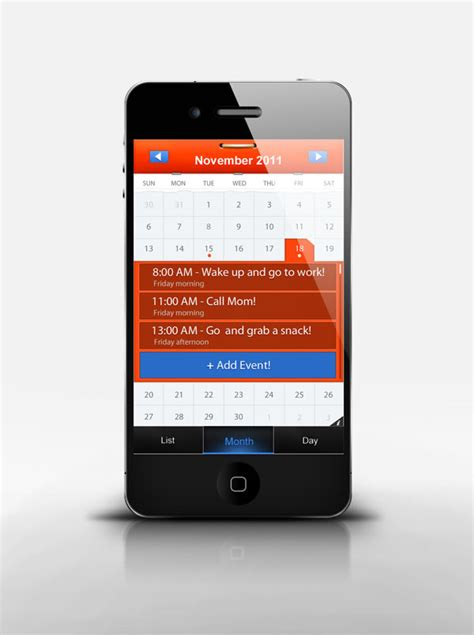 make a calendar app create a mobile calendar app in photoshop