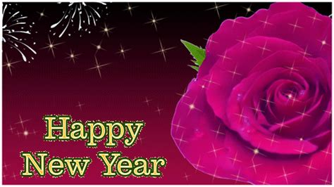 happy new year ecard with rose free happy new year ecards