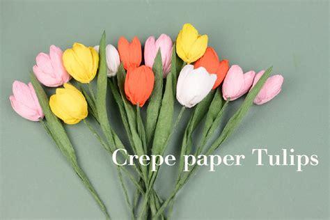 paper flower tutorial tulips crepe paper flower tulips easy tutorial creative diy