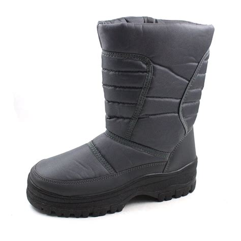 cold weather boots for skadoo mens snow winter cold weather boots ebay