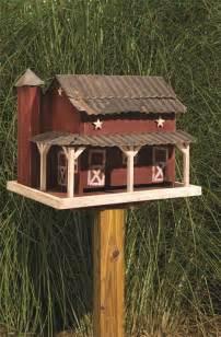 Barn Bird Feeder Amish Rustic Barn Bird Feeder With Tin Roof