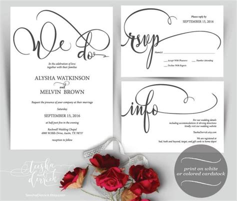 free printable wedding invitations pdf we do wedding invitation instant download printable