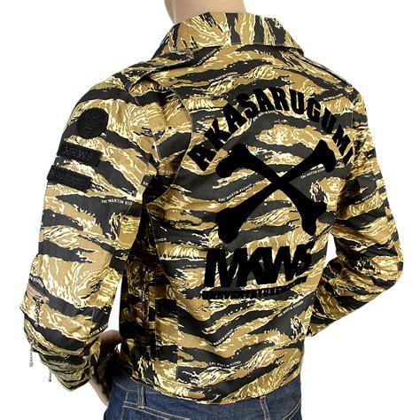 design camo jacket rmc mens camo pattern biker jacket redm4131 at togged clothing