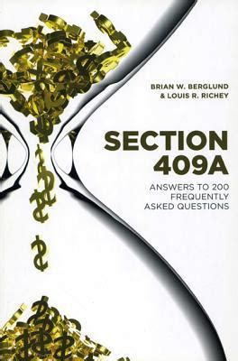 what is section 409a section 409a brian w berglund 9781614389774