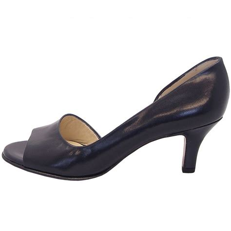 toe shoes kaiser jamala 13 open toe shoes in navy leather