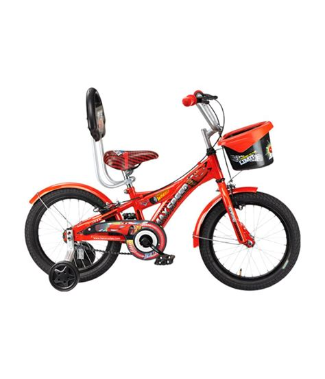 hero on a bicycle hero cars 16 bicycle red black buy online at best price on snapdeal