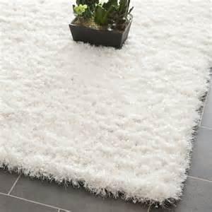 handmade malibu white shag rug 6 x 9