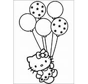Hello Kitty Con Unos Globos Para Imprimir