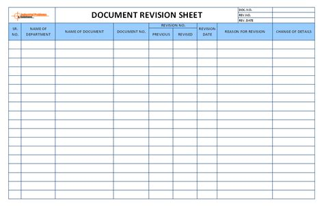 Document Revision Template