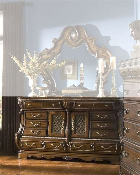 sovereign bedroom furniture aico dresser sovereign in soft mink ai 57050 51