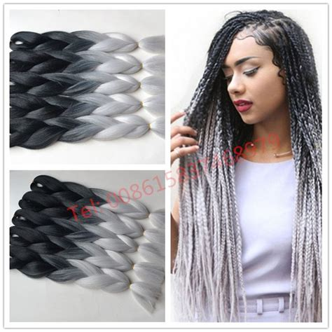 kanekolan hair black white grey 17 best ideas about kanekalon braids on pinterest grey