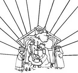 Nativity scene coloring page coloringcrew com