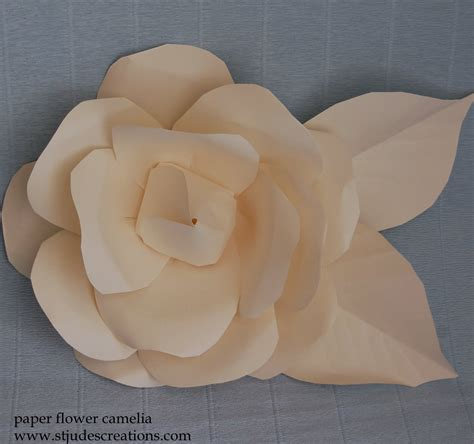 chanel paper flower tutorial leather chanel camelia inspired paper flowers handmade