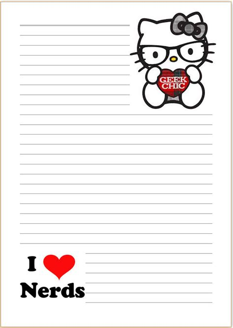 Letter Hello hello chic letter writing paper a4