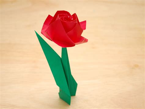Origami Paper Roses - how to fold a paper with pictures wikihow