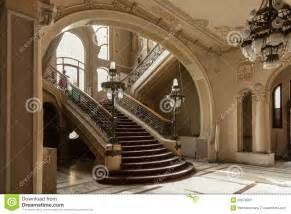Old and deprecated stairs in history building casino from constanta
