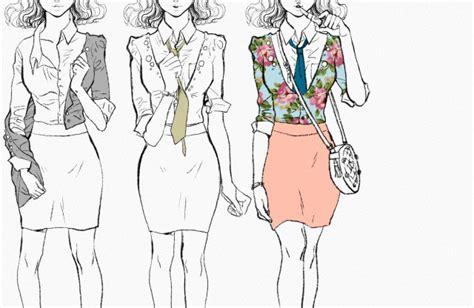 Wardrobe Illustration by Fashion Illustration Of Three Same Wearing