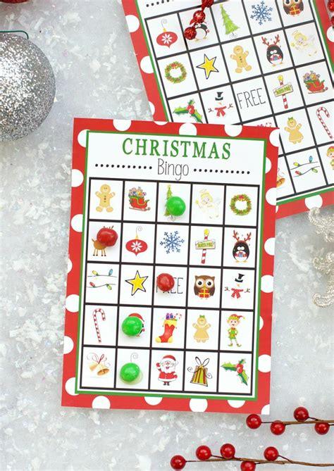 printable christmas games to play with family free printable christmas bingo
