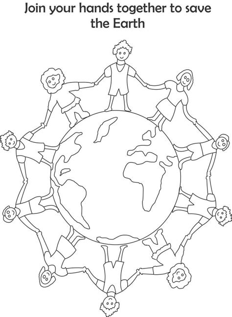 mother earth coloring page save mother earth drawing for kids