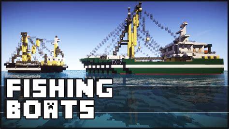 boat minecraft minecraft amazing fishing boats youtube