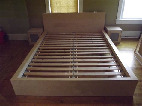 Ikea Bed Platform Ikea Platform Bed Two Nightstands