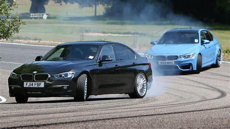 how fast is bmw m3 petrol bmw m3 vs diesel alpina d3 fast saloon showdown