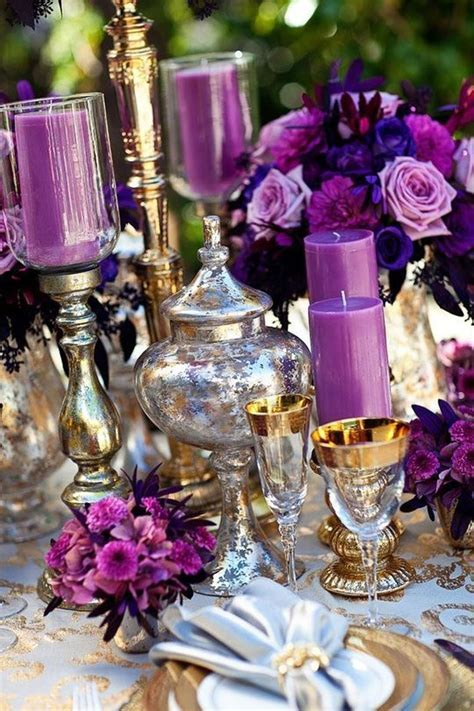 Best 25  Purple wedding tables ideas on Pinterest   Purple