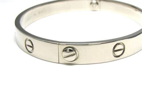 authentic cartier bracelet bangle 18k white gold