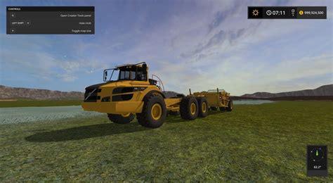 2017 volvo semi truck volvo a40g semi rock truck v1 0 trucks farming simulator
