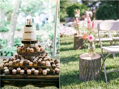 Rustic Woodsy Wedding Trend 2018 : Tree Stump   Deer Pearl