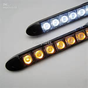 Led Light Strips Automotive 2x 12 Led Light With Turning Yellow Light Auto Drl Lens Led Lights