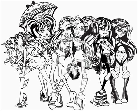 monster high coloring pages you can print free printable coloring pages for girls