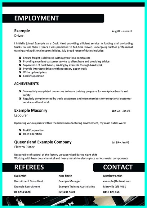 Resume Templates Driver simple but serious mistake in cdl driver resume
