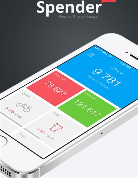 design inspiration apps mobile app design inspiration spender designbeep