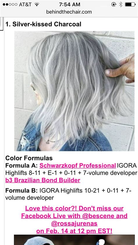 grey hair color formula wella the 25 best grey hair formula wella ideas on pinterest