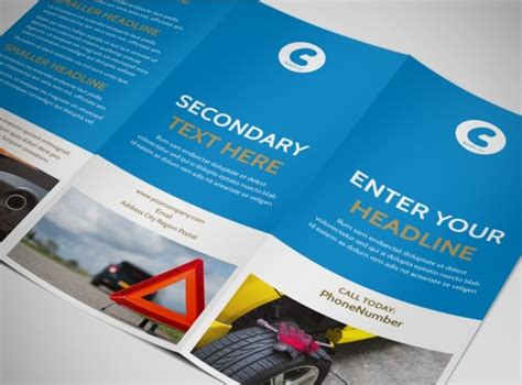 Roadside Assistance Service Tri Fold Brochure Template Roadside Assistance Business Plan Template