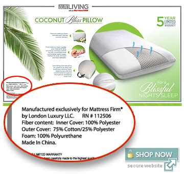 Coconut Bliss Pillow by Coconut Bliss Pillow Obs