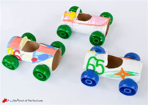 Toilet Paper Roll Car Craft - craft and play toilet paper roll car craft