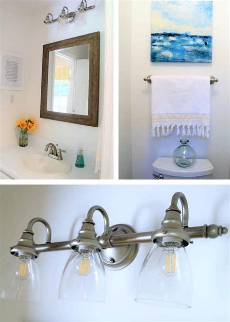 easy bathroom upgrade update your vanity lighting easy ways to update your bathroom