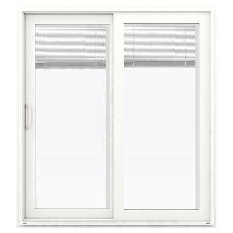 Jeld Wen Patio Doors With Blinds Jeld Wen 72 In X 80 In V 4500 White Prehung Left Sliding Vinyl Patio Door With