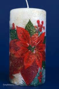 Decoupage Christmas Craft Gift Candle