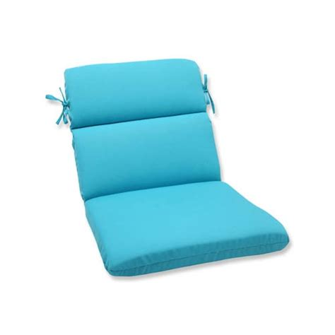 veranda blue outdoor rounded corner chair cushion pillow