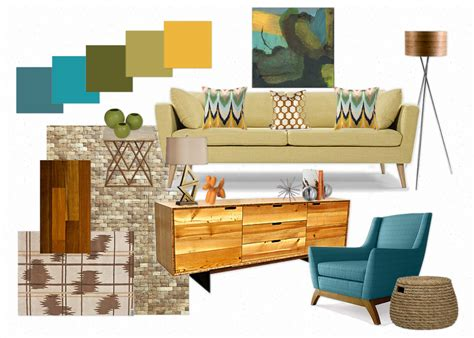 Mid Century Modern Living Room Ideas - moody monday mid century modern inspired living room