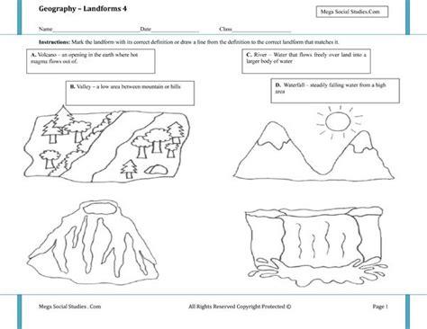 mountain pattern worksheet for kindergarten printable landform worksheets landforms for kids